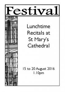 Lunchtime Recitals at St Mary s Cathedral