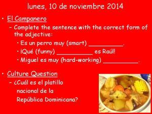 lunes, 10 de noviembre 2014