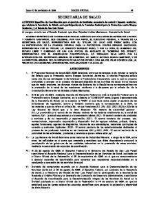 Lunes 15 de noviembre de 2004 DIARIO OFICIAL 49 SECRETARIA DE SALUD