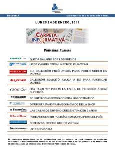 LUNES 24 DE ENERO, 2011