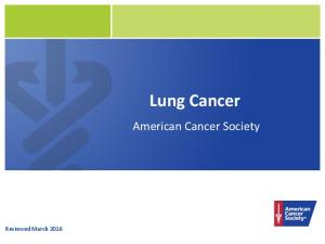 Lung Cancer. American Cancer Society