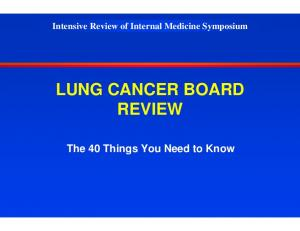 LUNG CANCER BOARD REVIEW