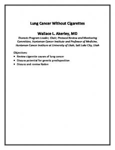 Lung Cancer Without Cigarettes