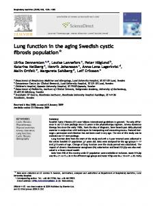 Lung function in the aging Swedish cystic fibrosis population *