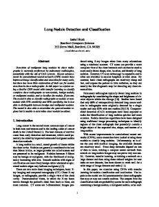 Lung Nodule Detection and Classification
