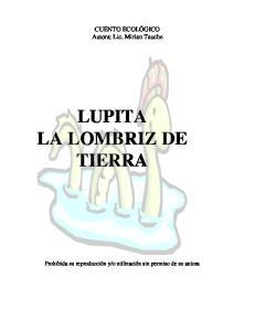 LUPITA LA LOMBRIZ DE TIERRA