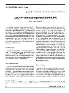Lupus eritematoso generalizado (LEG)