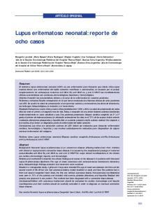 Lupus eritematoso neonatal: reporte de ocho casos