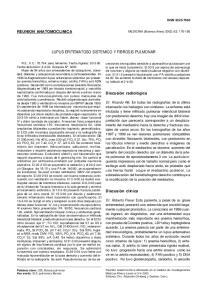 LUPUS ERITEMATOSO SISTEMICO Y FIBROSIS PULMONAR