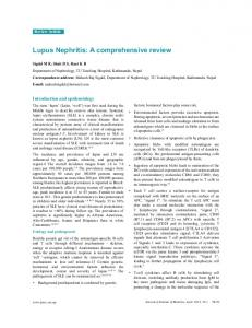 Lupus Nephritis: A comprehensive review