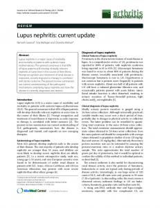 Lupus nephritis: current update