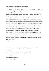 LUPUS NEPHRITIS MANAGEMENT GUIDELINES COMPARED