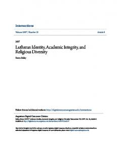 Lutheran Identity, Academic Integrity, and Religious Diversity
