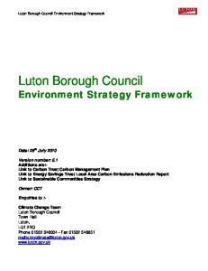 Luton Borough Council Environment Strategy Framework