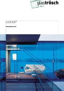 LUXAR. Nichtreflektierendes Glas