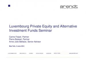 Luxembourg Private Equity and Alternative