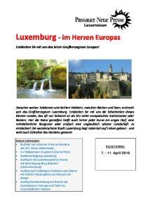 Luxemburg - im Herzen Europas