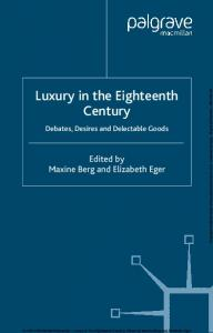 Luxury in the Eighteenth Century