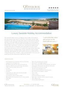 Luxury Seaside Holiday Accommodation