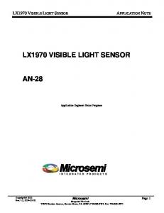 LX1970 VISIBLE LIGHT SENSOR