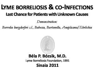 LYME BORRELIOSIS & CO-INFECTIONS