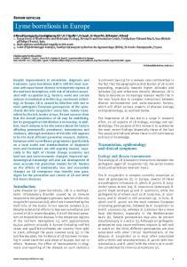Lyme borreliosis in Europe