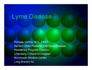 Lyme Disease: An Infectious Disease