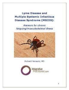 Lyme Disease and Multiple Systemic Infectious Disease Syndrome (MSIDS):