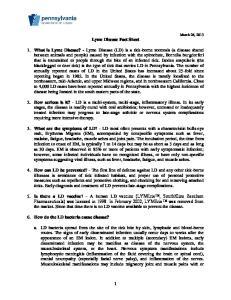Lyme Disease Fact Sheet