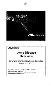 Lyme Disease Overview