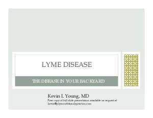 LYME DISEASE THE DISEASE IN YOUR BACKYARD