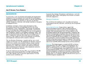 Lymphoma and Leukemia Chapter 14