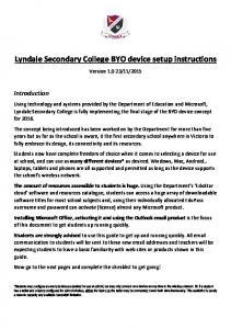 Lyndale Secondary College BYO device setup instructions