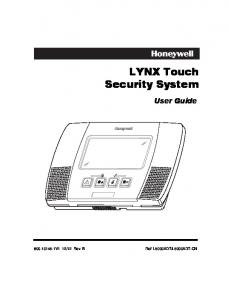 LYNX Touch Security System. User Guide