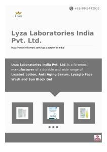 Lyza Laboratories India Pvt. Ltd