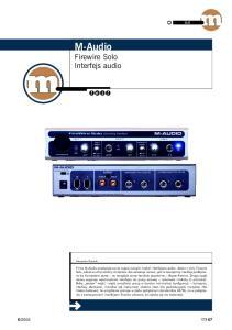 M-Audio Firewire Solo Interfejs audio