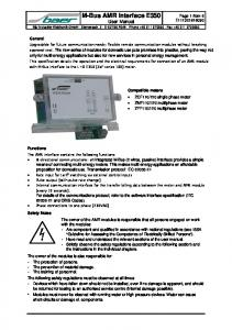 M-Bus AMR Interface E350 User Manual