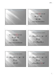 M D M M = M (M MP +M FT ) D < D D = (M MP +M FT ) D M D D < D D D < D D < D M = D (M MP +M FT ) =< M? (lógica del intercambio)