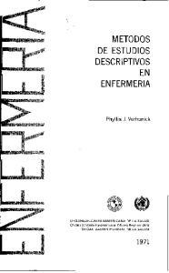 M ETODOS DE ESTUDIOS DESCRIPTIVOS EN ENFERMERIA