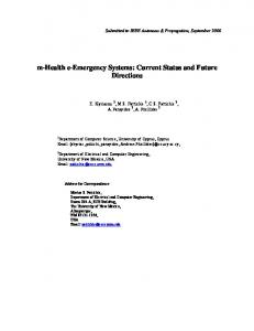 m-health e-emergency Systems: Current Status and Future Directions