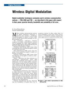 M odern wireless communication systems