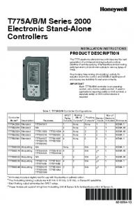 M Series 2000 Electronic Stand-Alone Controllers