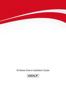 M Series Ovens Installation Guide