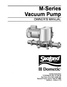 M-Series Vacuum Pump OWNER S MANUAL