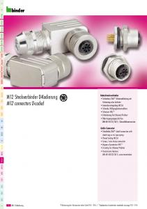 M12 Steckverbinder D-Kodierung M12 connectors D-coded