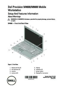 M6600 Mobile Workstation