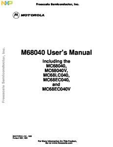 M68040 User s Manual