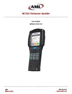M7225 Firmware Update