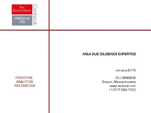 M&A DUE DILIGENCE EXPERTISE