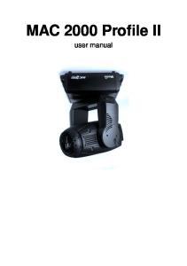 MAC 2000 Profile II. user manual